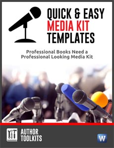 media kit templates for authors