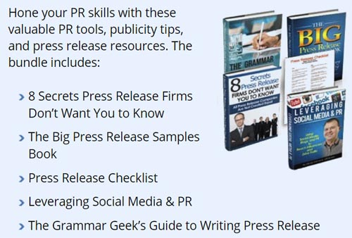 five digital PR product covers