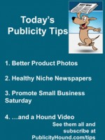 Publicity Tips–Better Product Photos