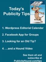 Publicity Tips–WordPress Editorial Calendar