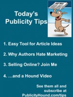 Publicity Tips–Easy Tool for Article Ideas