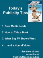 Publicity Tips–Free Media Leads