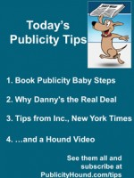 Publicity Tips–Book Publicity Baby Steps