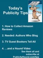 Publicity Tips–How to Collect Amazon Reviews
