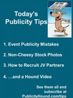 Publicity Tips–Event Publicity Mistakes