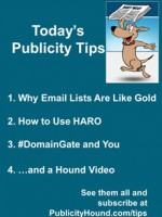 Publicity Tips–Why Email Lists Are Like Gold