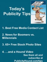 Publicity Tips–Best Free Media Contact List