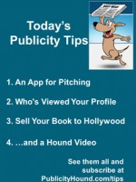 Publicity Tips–An App for Pitching