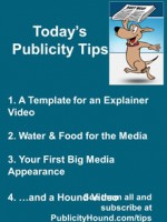 Publicity Tips–A Template for an Explainer Video