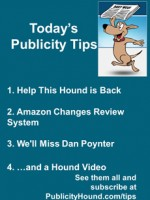 Publicity Tips–Help This Hound is Back