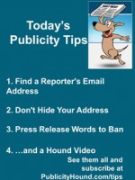 Publicity Tips–Find a Reporter's Email Address