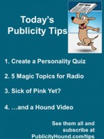 Publicity Tips–Create a Personality Quiz