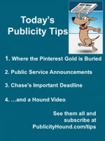 Publicity Tips–Where the Pinterest Gold is Buried