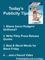 Publicity Tips–Blame Aaron Rodgers' Girlfriend?