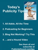 Publicity Tips–All Adele, All the Time