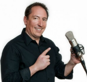 Wayne Kelly with mic