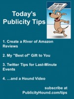 Publicity Tips–Create a River of Amazon Reviews