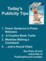 Publicity Tips–Power Sentence in Press Releases