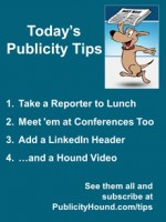 Publicity Tips–Take a Reporter to Lunch