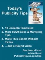 Publicity Tips–10 LinkedIn Templates
