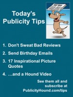 Publicity Tips–Don't Sweat Bad Reviews