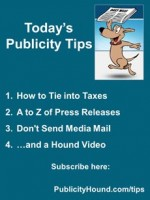 Publicity Tips–How to Tie into Taxes