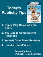 Publicity Tips–Puppy Play Dates with the Editor