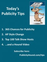 Publicity Tips–365 Chances for Publicity