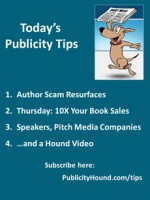 Publicity Tips–Author Scam Resurfaces