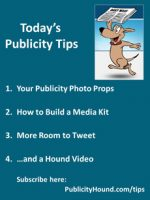 Publicity Tips–Your Publicity Photo Props