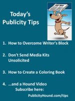 Publicity Tips–How to Overcome Writer's Block