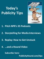 Publicity Tips–Pitch NPR's 35 Podcasts