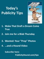 Publicity Tips–Make That Draft a Dream Come True