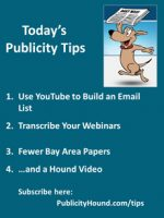 Publicity Tips–Use YouTube to Build an Email List