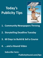 Publicity Tips–Community Newspapers Thriving
