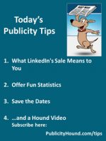 Publicity Tips–What LinkedIn's Sale Means to You