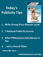 Publicity Tips–Write Strong Press Release Leads