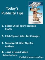Publicity Tips–Better Check Your Facebook Profile
