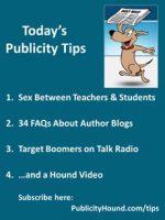 Publicity Tips–Sex Between Teachers & Students