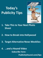 Publicity Tips–Take This to Your Next Photo Shoot