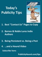 "Publicity Tips–Best ""Contact Us"" Pages to Copy"