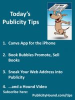 Publicity Tips–Canva App for the iPhone