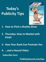 Publicity Tips–How to Pitch a Reality Show