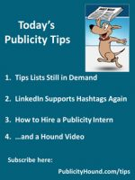 Publicity Tips–Tips Lists Still in Demand