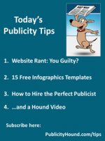 Publicity Tips–Website Rant: You Guilty?