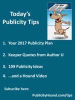 Publicity Tips–Your 2017 Publicity Plan