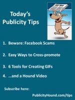 Publicity Tips–Beware: Facebook Scams