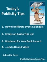 Publicity Tips–How to Infiltrate Event Calendars