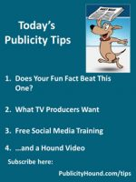 Publicity Tips–Does Your Fun Fact Beat This One?