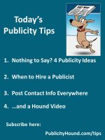 Publicity Tips–Nothing to Say? 4 Publicity Ideas